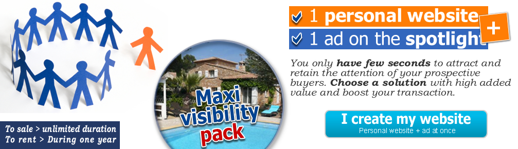 MAXI VISIBILITY PACK,  the solution for your real estate